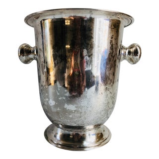French Art Deco Style Vintage Silver Plate Ice Bucket For Sale