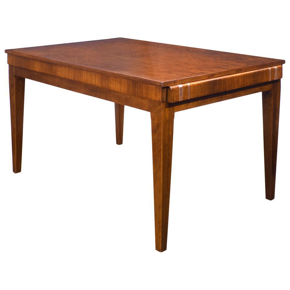 french art deco burled elm table vintage  u0026 used art deco dining tables   chairish  rh   chairish com