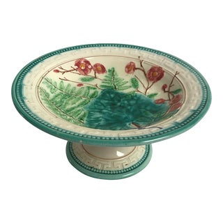 Majolica Compote For Sale
