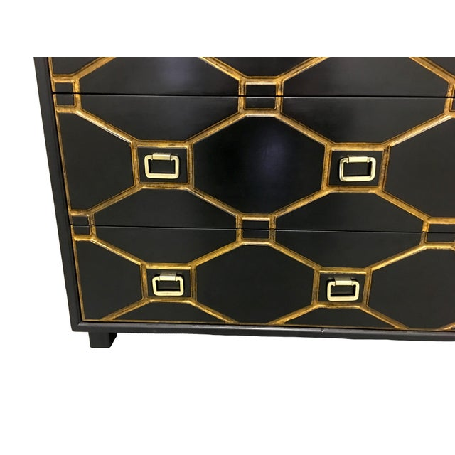 Hollywood Regency Dorothy Draper Black Viennese Collection Dresser For Sale - Image 3 of 9