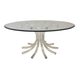Lucite & Glass Wheat Sheaf Coffee / Cocktail Table
