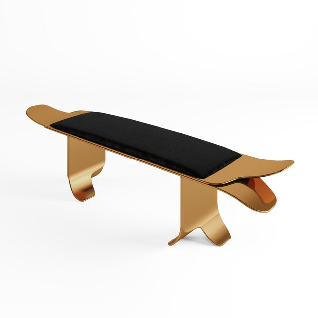 Art Deco Flip Bench by Artist Troy Smith - Contemporary Design - Artist Proof - Custom Furniture For Sale - Image 3 of 4