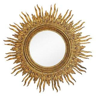 Monumental 1940's Wooden Italian Sunburst Mirror