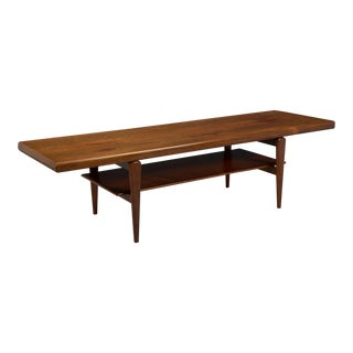 1950s Danish Modern Rosewood Coffee Table For Sale