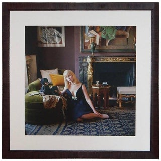 1960s Nico With Dachshunds in Apartment of Henri Samuel Photo by Mark Shaw For Sale