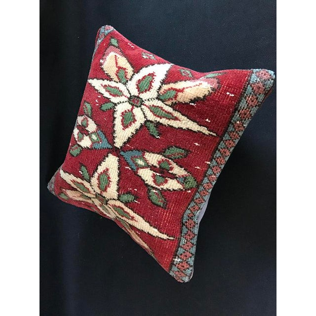 Colorful Turkish Wool Bohemian Pillow Cover For Sale In Austin - Image 6 of 11