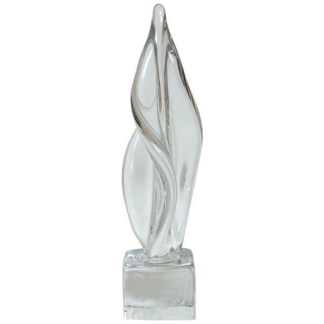 Mid Century Modern Large Abstract Sculpture in Murano Glass For Sale
