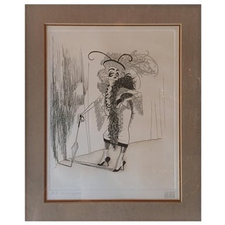 Collectible Signed Hirschfeld Drawing For Sale