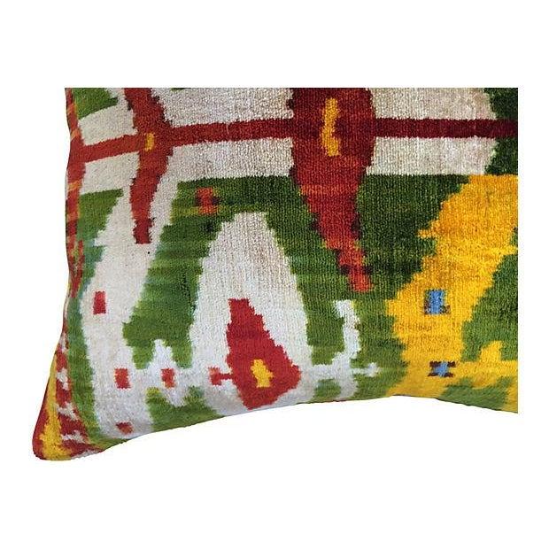 Bohemian Velvet Ikat Pillow For Sale - Image 4 of 5