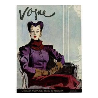 """Vogue Paris, February 1936"" Original Vintage Fashion Magazine Cover For Sale"