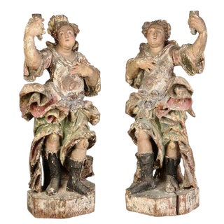 Pair of 18th Century Italian Angels For Sale
