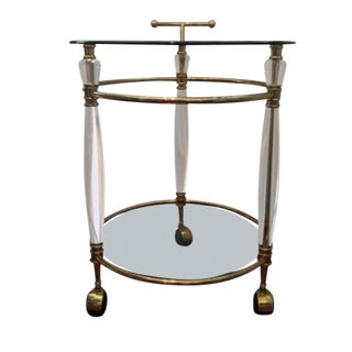 Mid-Century Lucite Bar Cart For Sale