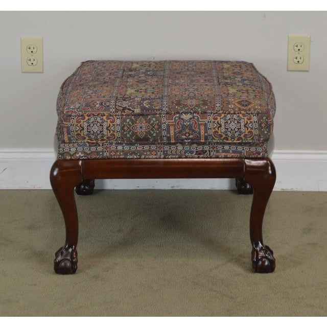 Fairington Chippendale Style Ball & Claw Foot Ottoman For Sale In Philadelphia - Image 6 of 13