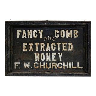 "Vintage ""Fancy Comb Honey"" Sign"