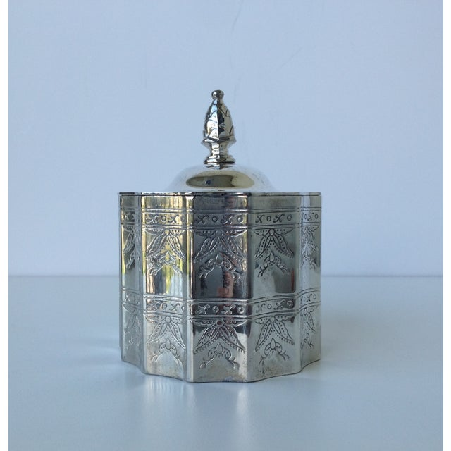 Silverplate Moorish Lidded Keepsake Box - Image 4 of 9