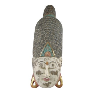 Wood Large Buddha Head Balinese For Sale