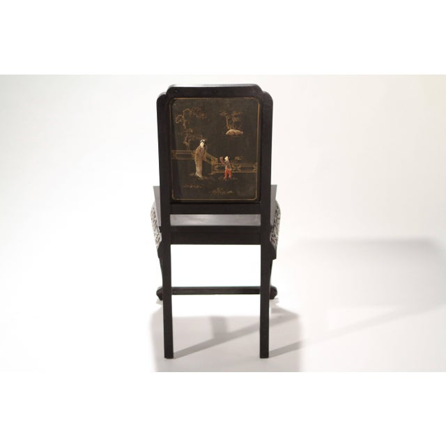 1960s French Chinoiserie Neoclassical Chair, 1960s For Sale - Image 5 of 9