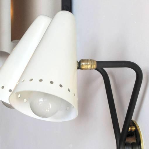 French Double-Arm Wall Light by Arlus - Image 7 of 10