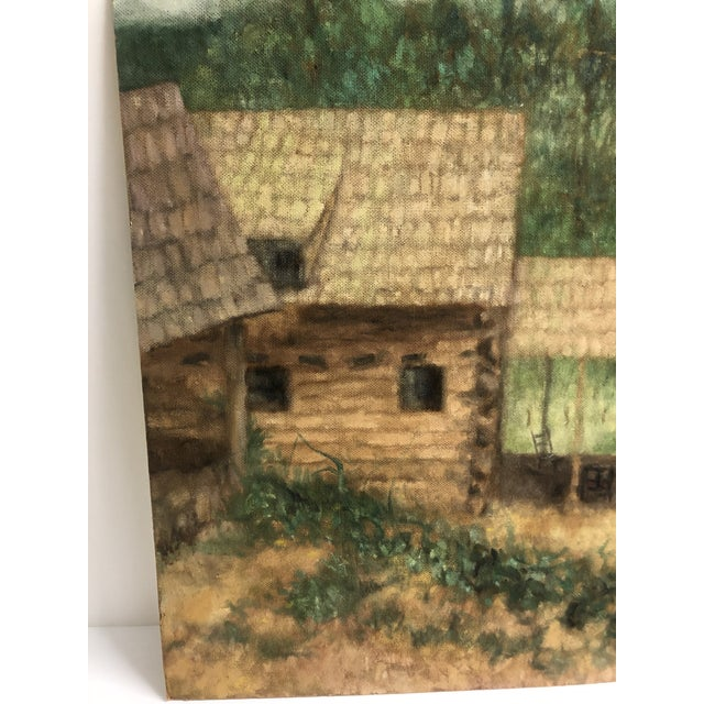 From the estate of Chicago artist James Frederic Bone (1929-2015) This oil on masonite was probably painted in the Ozarks...