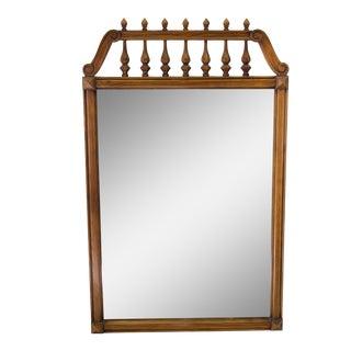 Vintage Walnut Framed Mirror For Sale