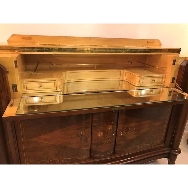 Jules Leleu Style French Art Deco Dry Bar For Sale - Image 4 of 10