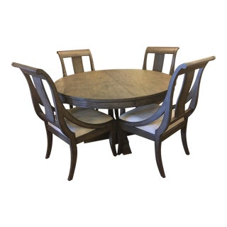 Hekman Gray Dining Table and 4 Chairs