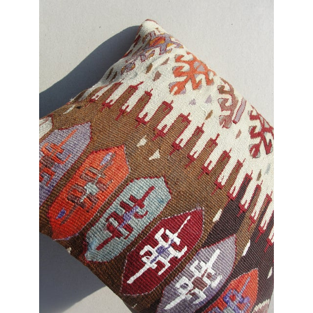 Kilim Rug Pillow For Sale - Image 10 of 11