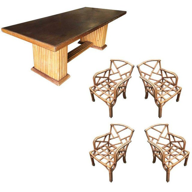 Restored Rare Paul Frankl Dining Room Table and Chairs Set For Sale - Image 12 of 12
