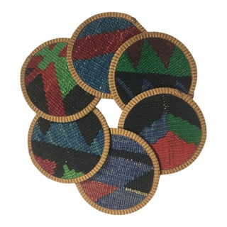 Rug & Relic Kilim Coasters Set of 6 | Yonca