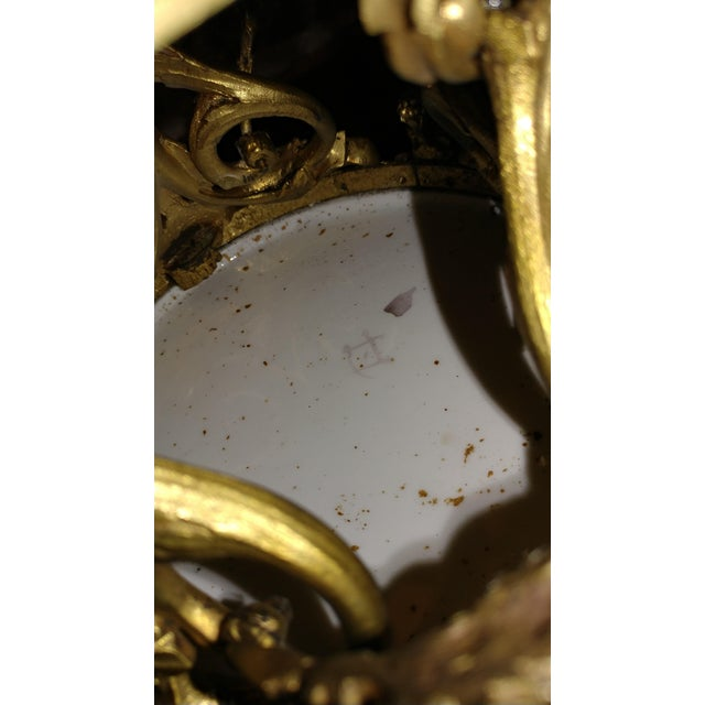 Blue 19th Century Beautiful French Sevre Porcelain & Gilt Bronze Center Piece For Sale - Image 8 of 10