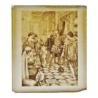 1900 Antique Art Rigoletto Opera Theater Music Renaissance Photogravure by CD Graves For Sale