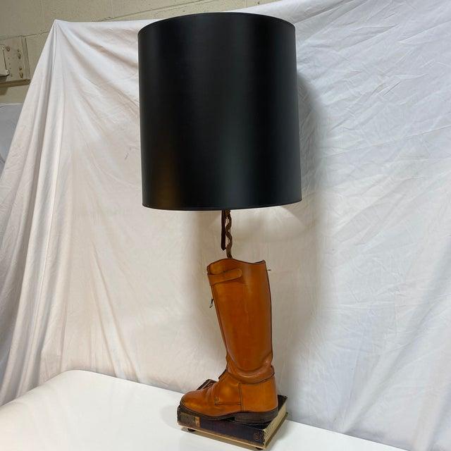 Hermès Orange Riding Boot Lamp For Sale - Image 12 of 12