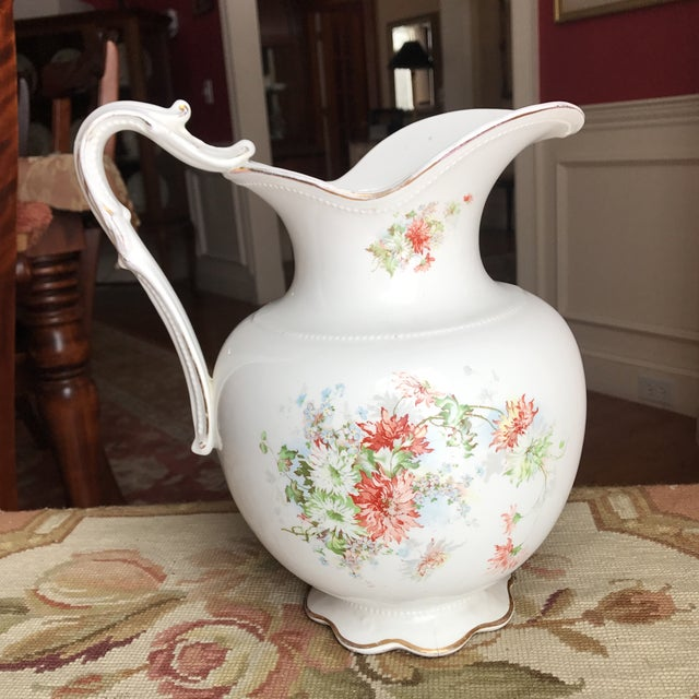 Vintage Flower Vase Pitcher - Image 2 of 10