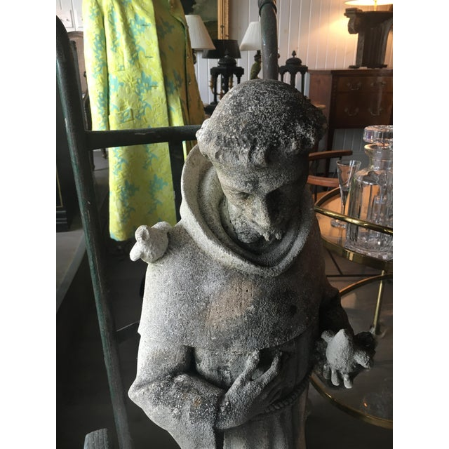 Cast Stone Statue of St. Francis of Assisi For Sale In South Bend - Image 6 of 7
