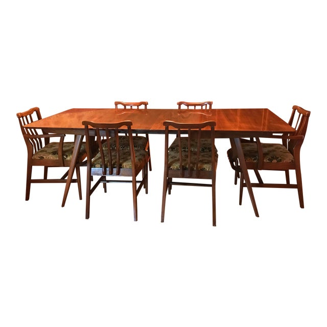 1950s Vintage Modern Danish Dining Set For Sale