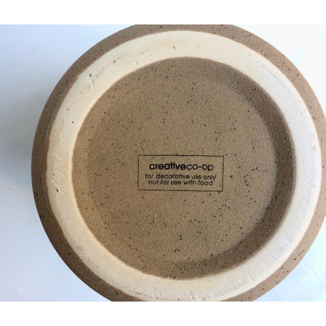 2010s Medium Speckled Ojai Stoneware Canister For Sale - Image 5 of 6