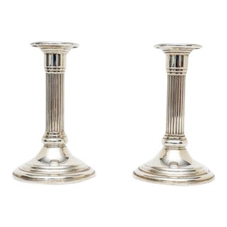 Sterling Silver NeoClassic Revival 1930s Candle Sticks Holders by Empire - a Pair For Sale