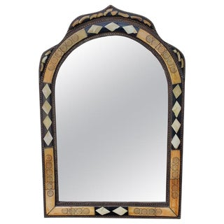 Moroccan Arched Tricolor Mirror For Sale