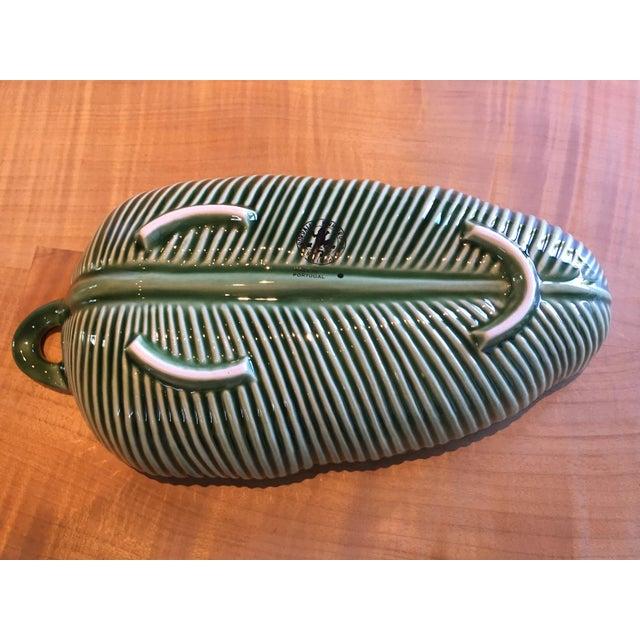 Bordallo Pinneiro Tropical Green Leaf Bowl For Sale - Image 4 of 8