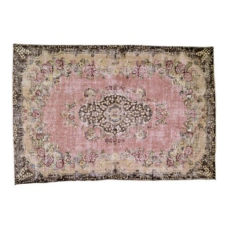"""Vintage Turkish Anatolian Hand Knotted Organic Wool Fine Weave Rug,7'x10'6"""" For Sale"""