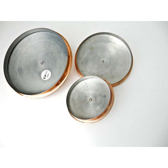 White Canisters with Copper Lids - Set of 3 - Image 7 of 7