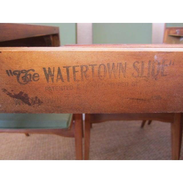 Walnut Robsjohn-Gibbings Walnut Extension Dining Table For Sale - Image 7 of 7