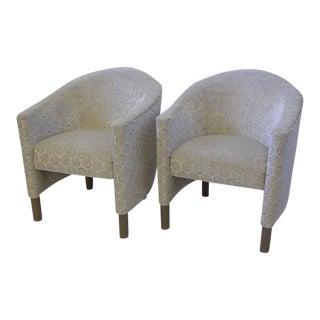 1970s Mid-Century Modern Brayton International Collection Club Chairs - a Pair