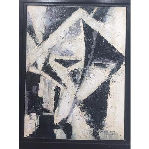 Black Vintage Cuban Painting, Framed For Sale - Image 8 of 8
