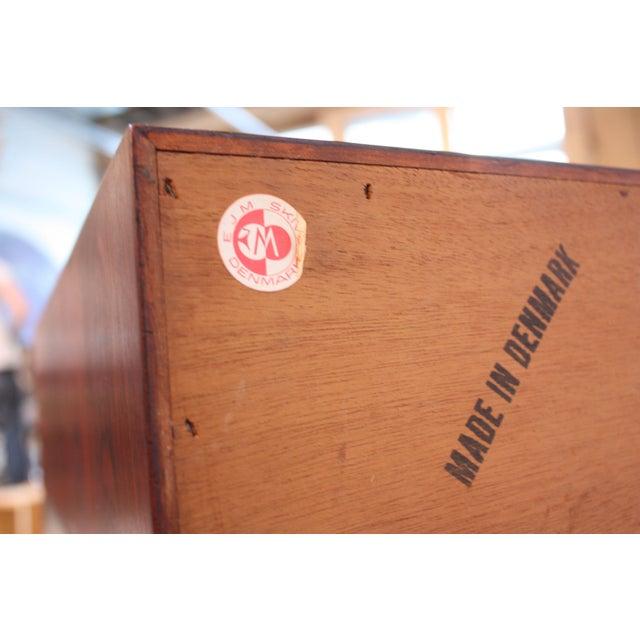 Diminutive Danish Modern Rosewood Desk by EJM Skive For Sale - Image 11 of 12