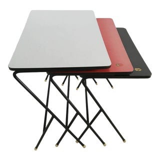 Set of Industrial Nesting Tables by Pilastro, 1960s