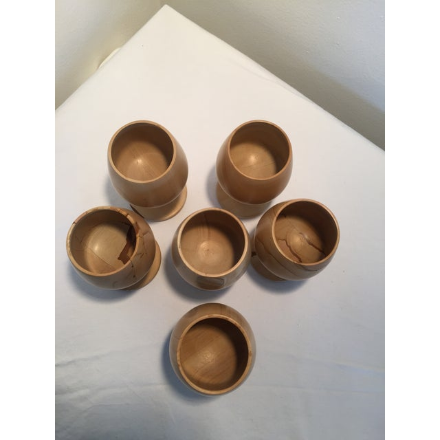 Persian Natural Stone Onyx Carved Goblets - Set of 6 For Sale - Image 3 of 7