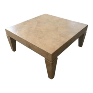 Beige White Designer Coffee Table For Sale