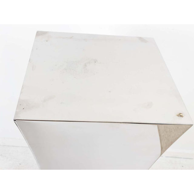 Polished Nickel Concave Pedestal For Sale - Image 10 of 11
