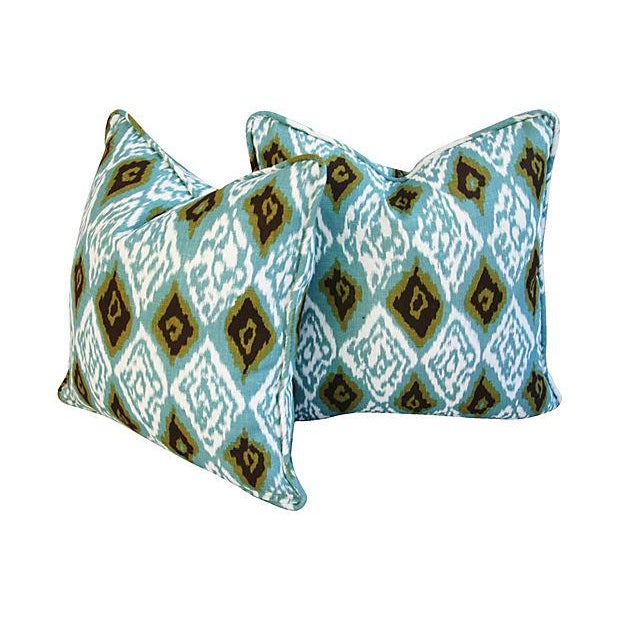 Custom Eaton Square Firebird Linen Pillows - Pair - Image 4 of 7
